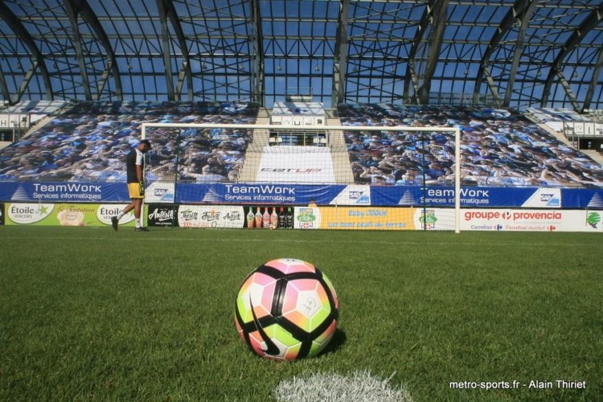 La pelouse du Stade des Alpes chauffée avant la Coupe de France