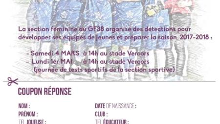 La section féminine du GF38 organise des détections