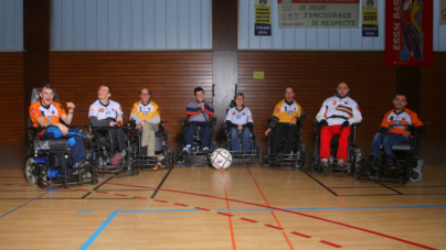 Journée de championnat de Foot-Fauteuil à Saint-Martin-d'Hères le 4 mars