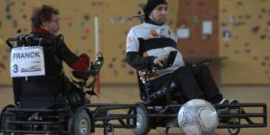 3ème journée du championnat de Nationale en Foot-Fauteuil Électrique à Claix