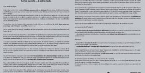 Les supporters grenoblois écrivent une lettre ouverte… au Stade des Alpes