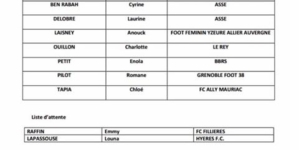 Romane Pilot admise au Pôle Espoirs féminin de Vaulx-en-Velin
