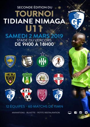 Thibaut Davreux présente le Tournoi Tidiane organisé par le GF38