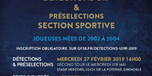 Le GF38 organise des détections U19 féminines