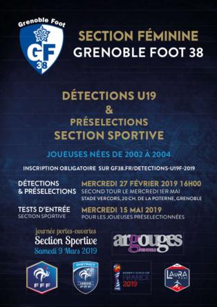 Le GF38 organise des détections U19 féminines