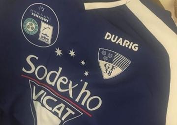 Enchère solidaire : maillot dédicacé de Mickaël Dogbé
