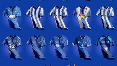 Un supporter reproduit tous les maillots du GF38 depuis 2001