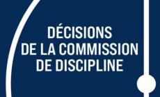 [Discipline] Les décisions du mardi 11 mai 2021