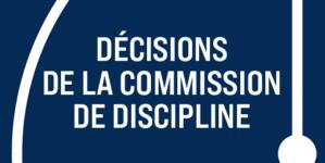 [Discipline] Les décisions du 4 mars 2021