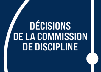 [Discipline] Les décisions du 16 septembre